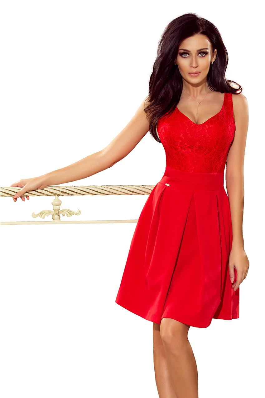 8dd37541b6ad Dámské červené plesové šaty 208-2