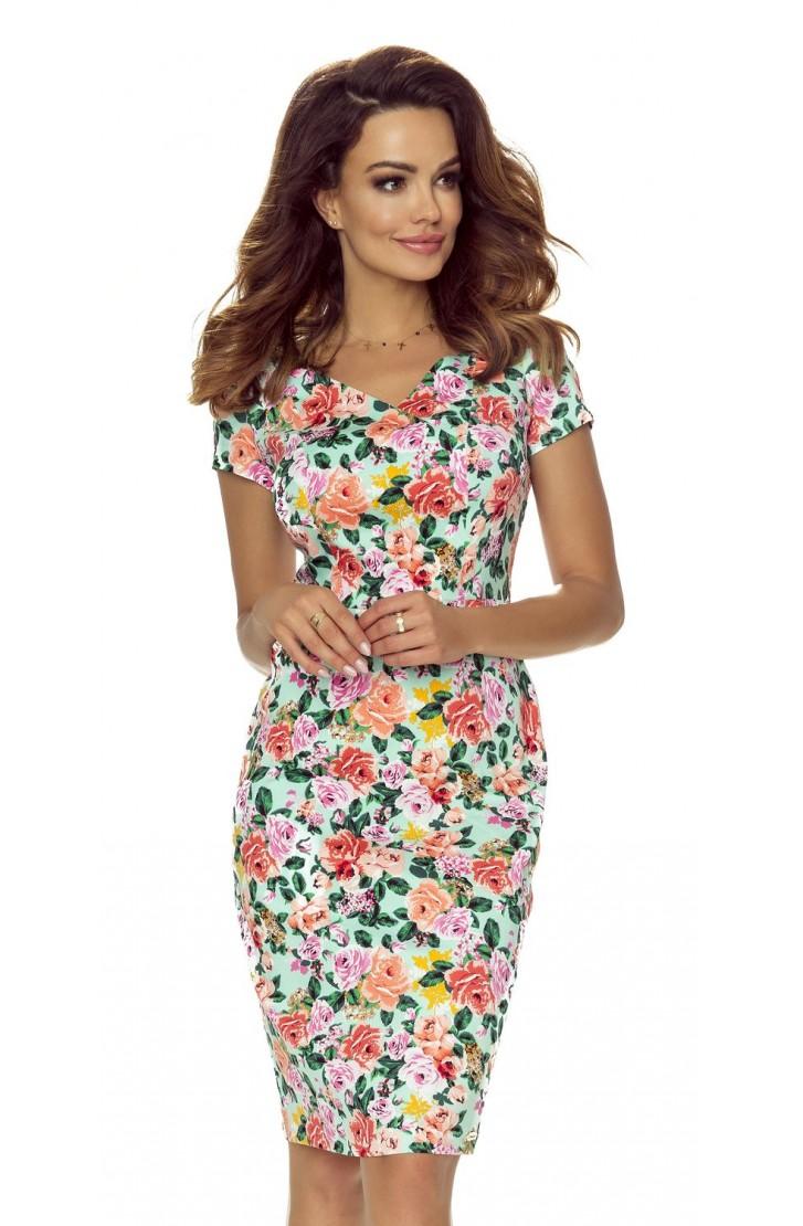f747f6a40b37 Dámské květinové šaty B107-05