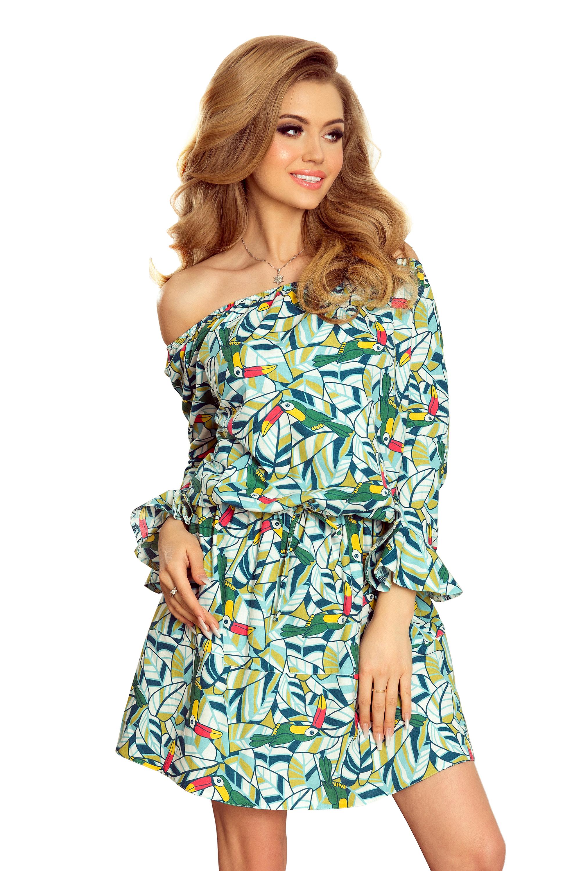 c33a3982dce Dámské letní šaty se vzorem papoušků 198 3