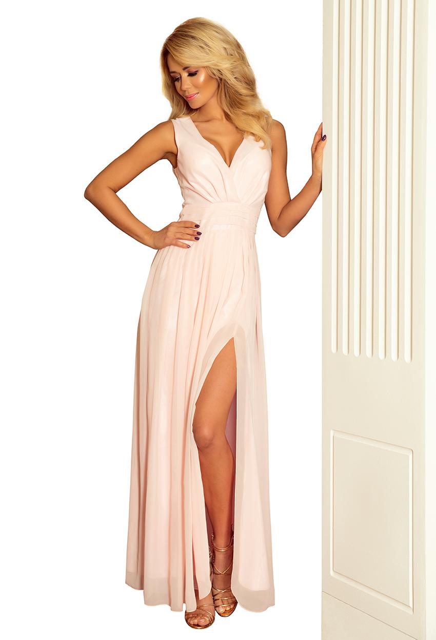 9891a978a8f Dámské dlouhé světle růžové šaty 166 4