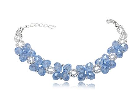 Stříbrný náramek Swarovski se světle modrými krystaly Swarovski f847208ea71