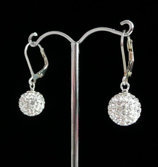 Stříbrné náušnice Swarovski kuličky Crystal 8 mm a963fb07bee
