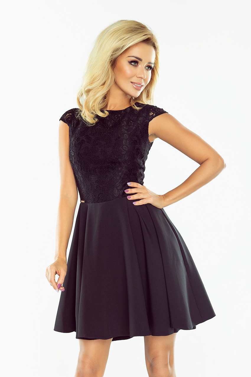 5488e941cf9 Plesové dámské černé šaty 157-2