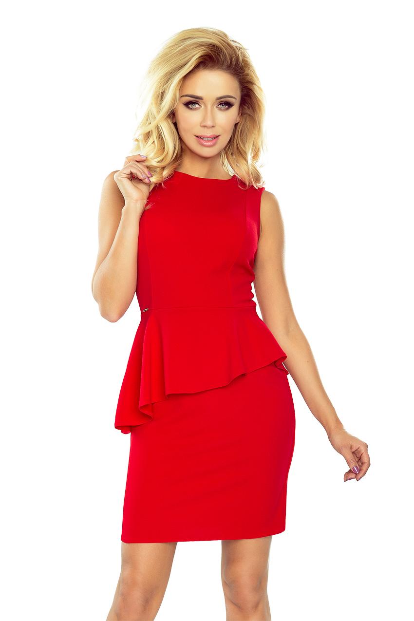 a2aeeb47015 Dámské červené společenské šaty 178-1