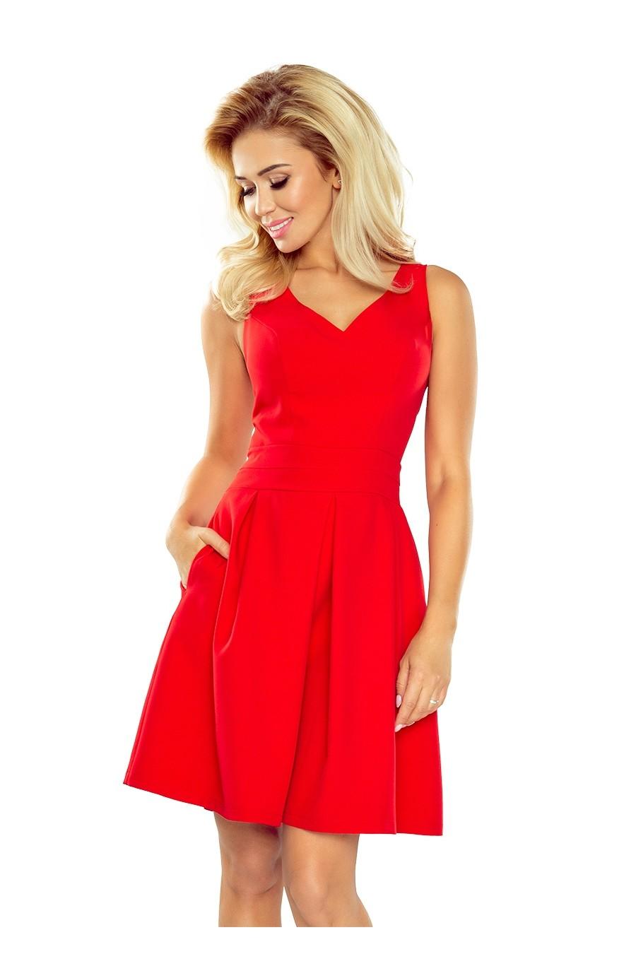 24685698ce2 Dámské červené společenské šaty 160-3