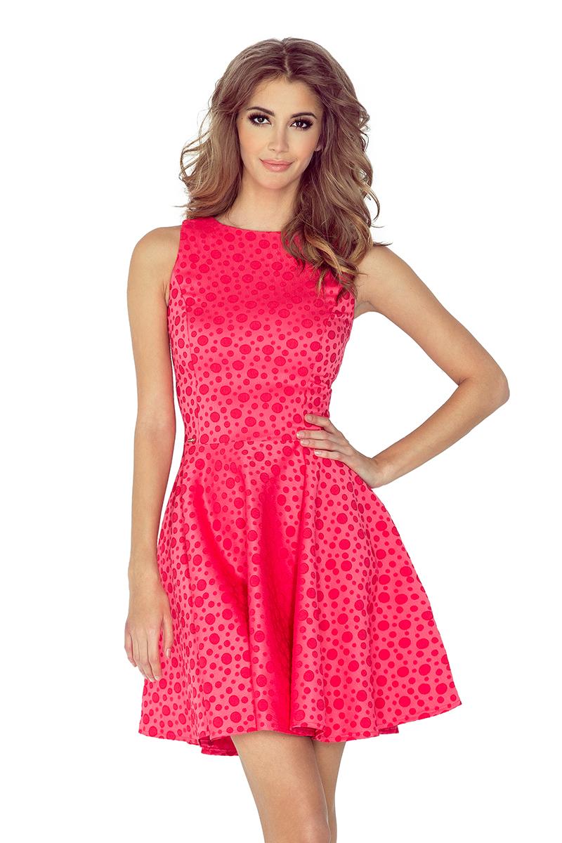 Dámské růžové letní šaty 125-13 3b8ec51f7e