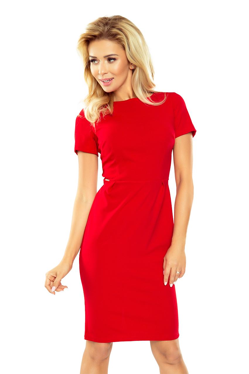 Dámské červené společenské šaty 150-2 29ae1e8700