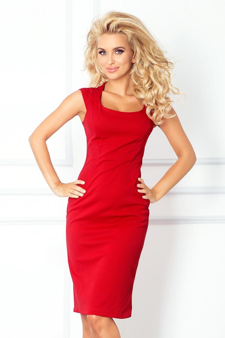 e0dfd0ec654 Dámské červené šaty 53-17