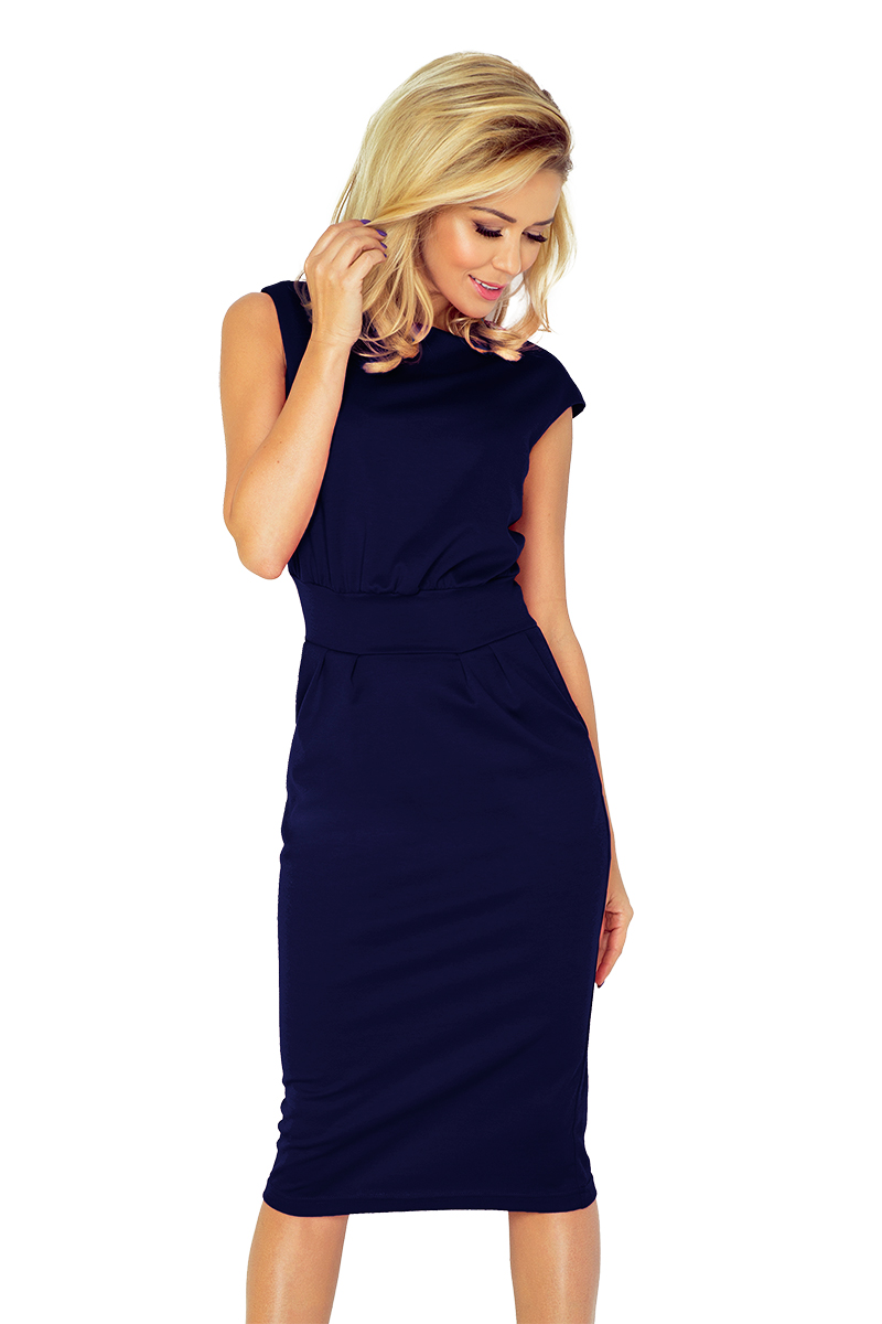 a343e0c84d21 Dámské tmavě modré společenské šaty 144-4