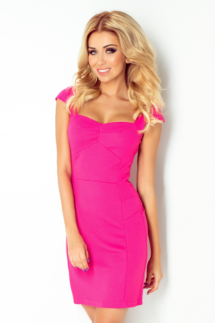 Dámské růžové koktejlové šaty 118-3 cf56e7d0cd