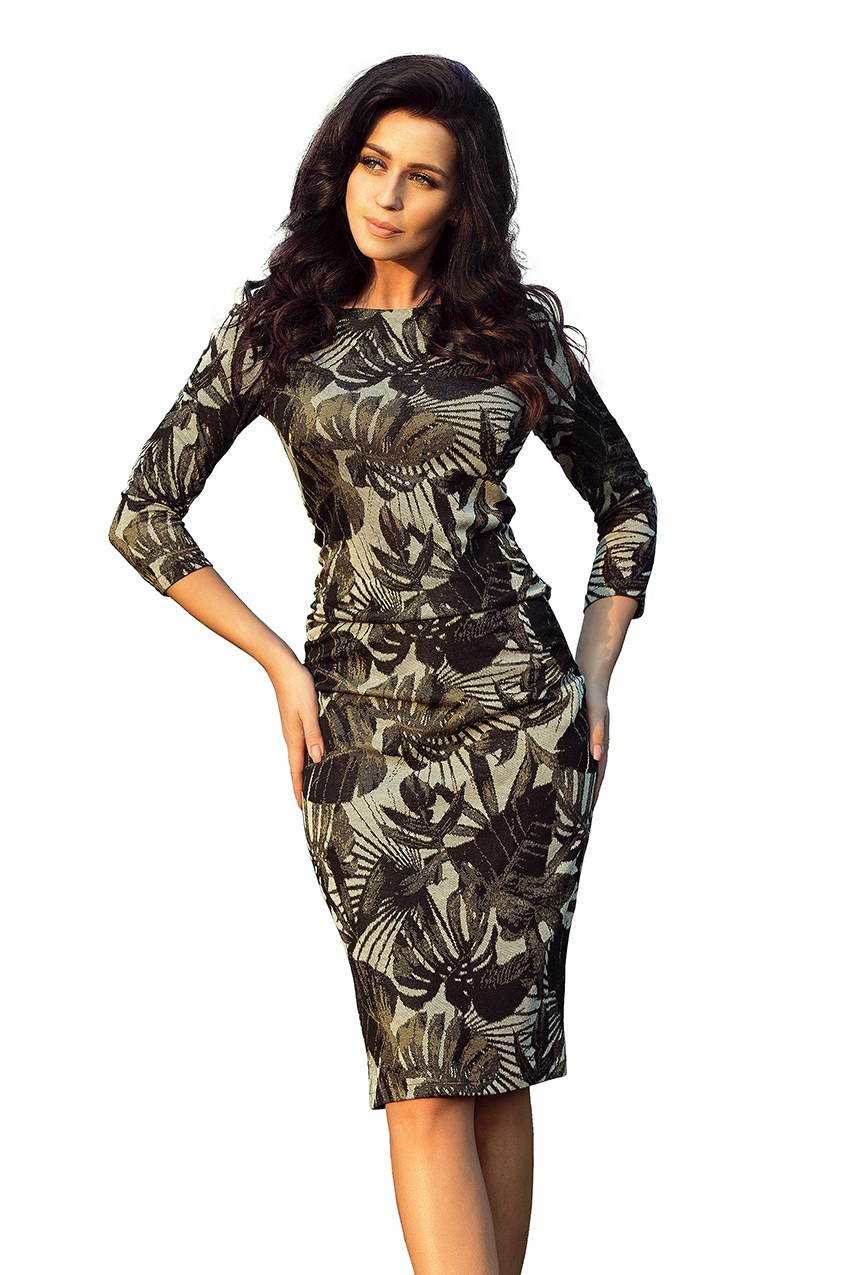 Dámské černé květinové šaty 59-7 b3cede53da
