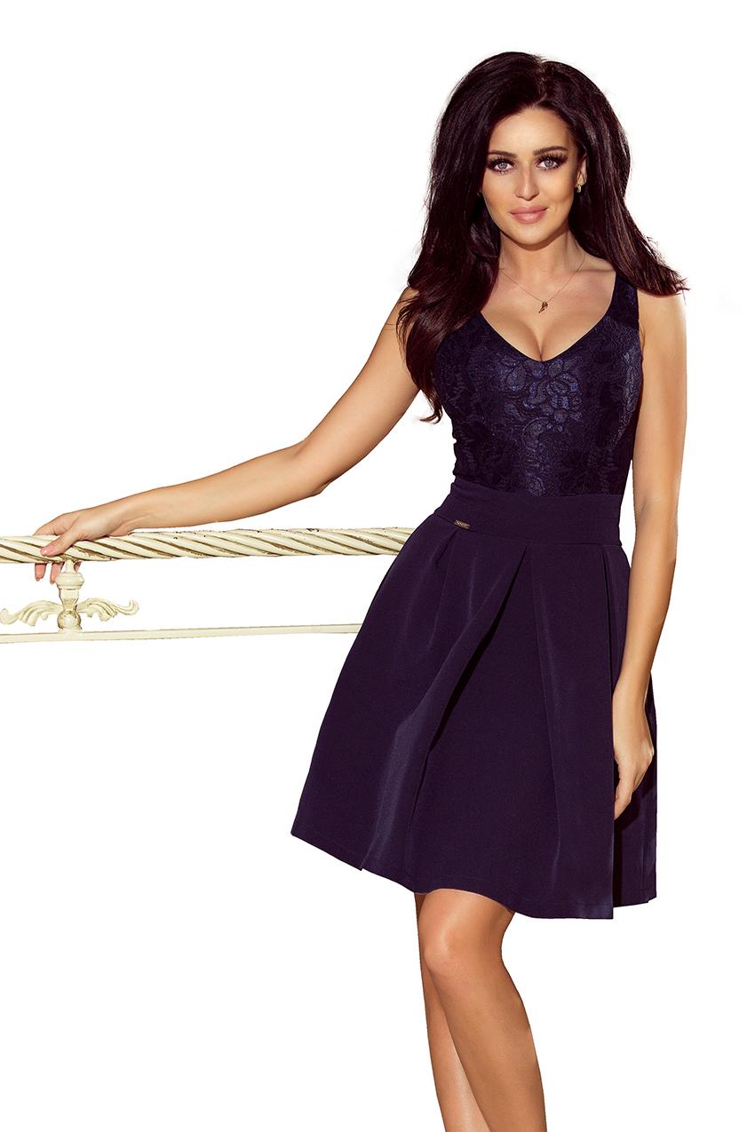 Dámské tmavě modré plesové šaty 208 1 ada5d610123
