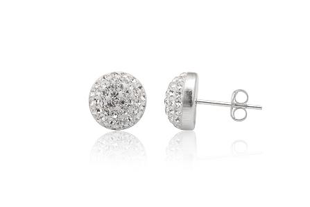 Swarovski stříbrné náušnice pecky s krystaly - náušnice Swarovski 7e4986be330