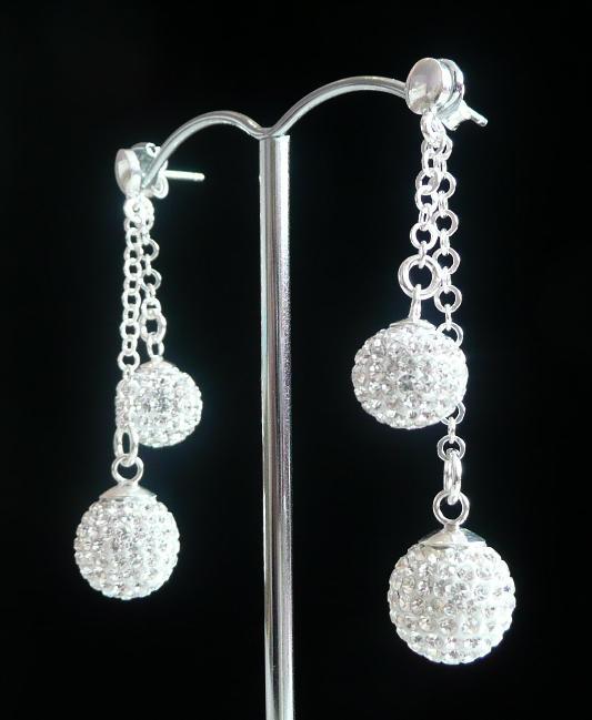 Stříbrné visací náušnice Swarovski s krystaly - stříbrné náušnice 9e8157deb5c