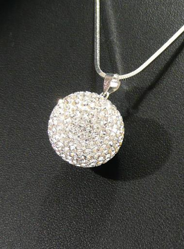 Stříbrný přívěsek kulička Swarovski Crystal 14 mm 6ac6201b6cb