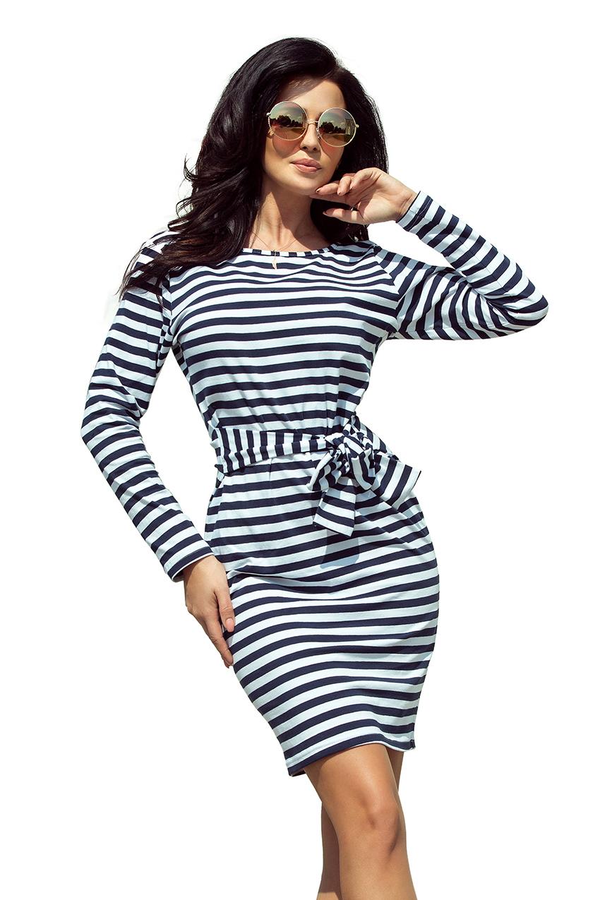 Dámské pruhované šaty 209 1 empty b8051d7067