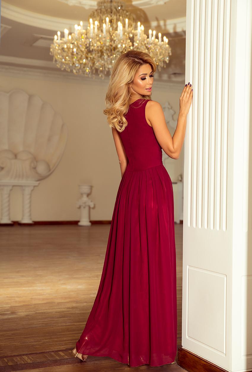 Popis vybraného produktu  Dámské bordó šaty e3f91827c7