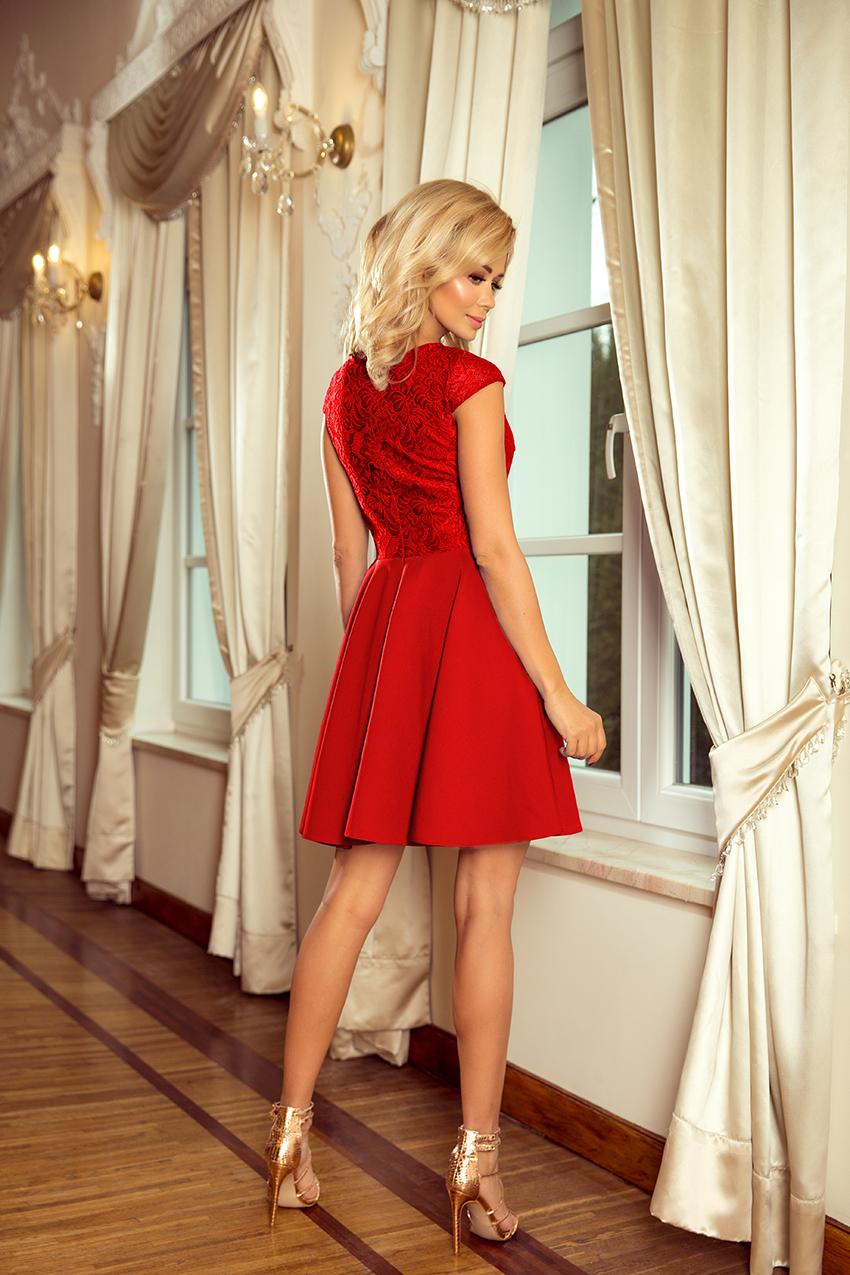 5e4f6040a7d Dámské červené společenské šaty 157-8