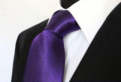 Pánská fialová vzorovaná klasická kravata - 8 cm aba6da752e
