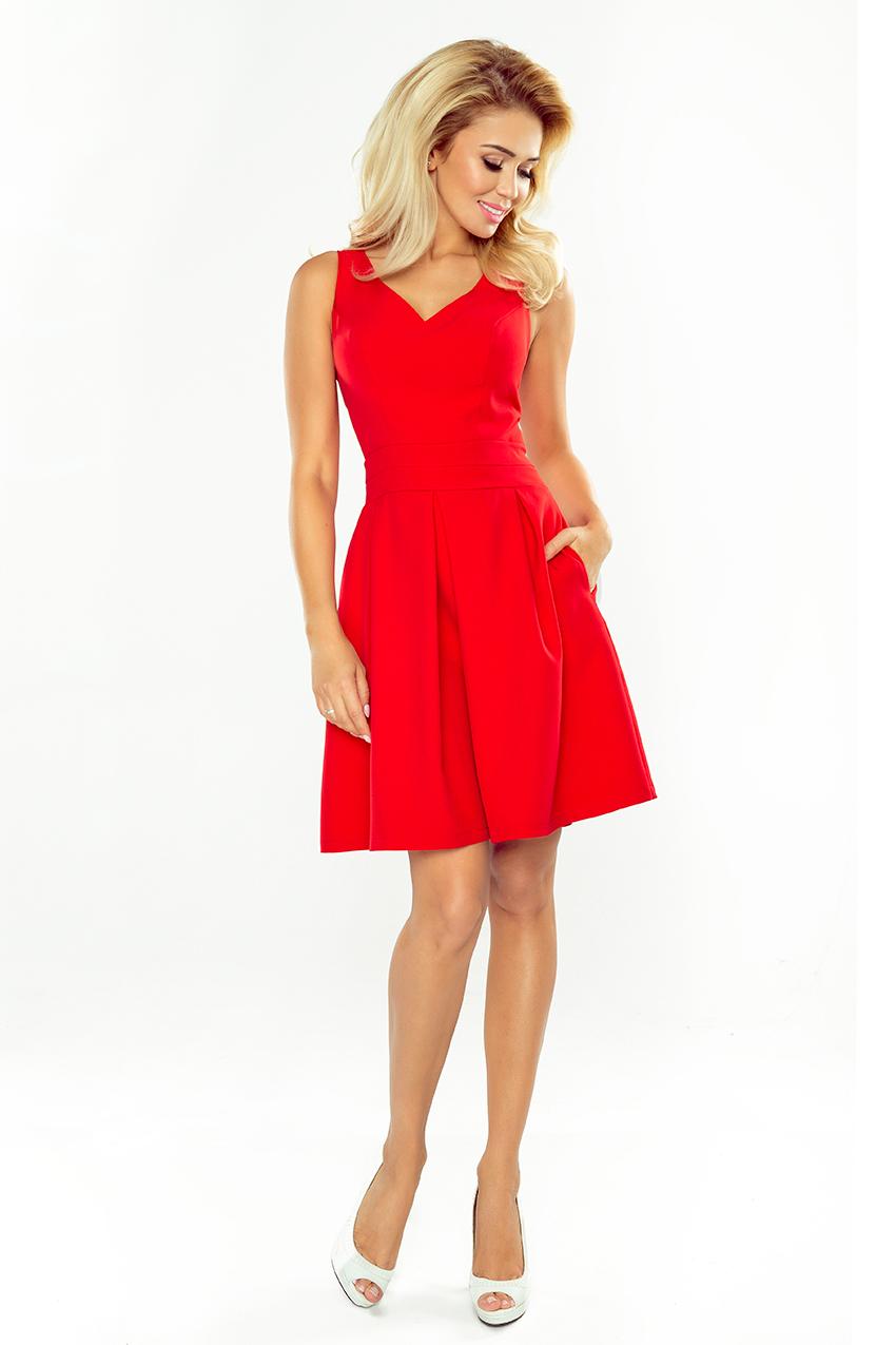a16cfef8de68 Dámské červené společenské šaty 160-3
