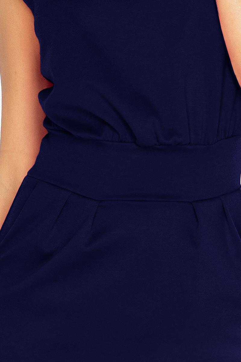 1f2e61945c0f Dámské tmavě modré společenské šaty 144-4