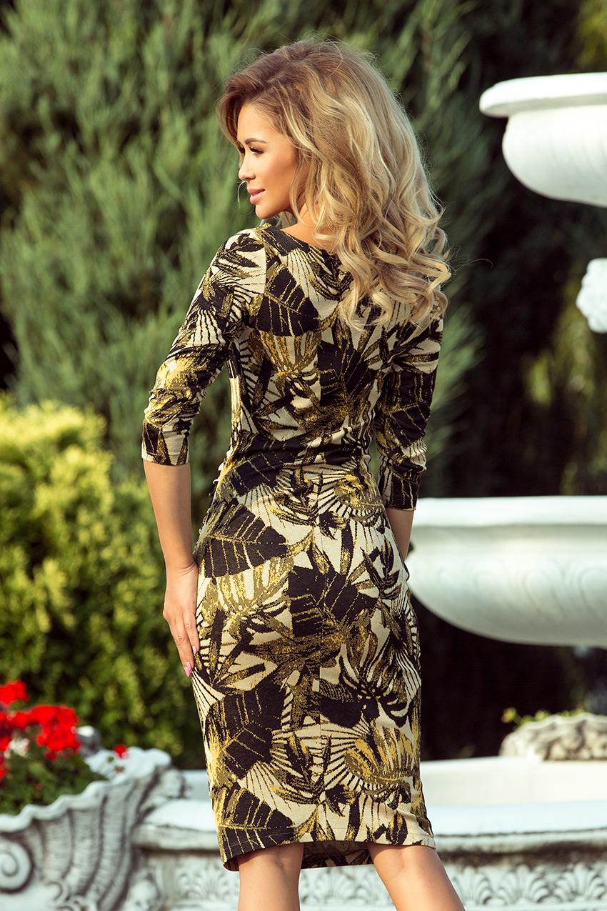 Popis vybraného produktu  Dámské medové květinové šaty 1b88bd6bc4