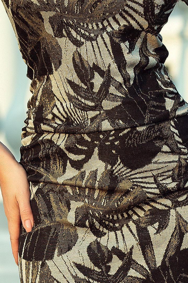 Popis vybraného produktu  Dámské černé květinové šaty 406e24a961